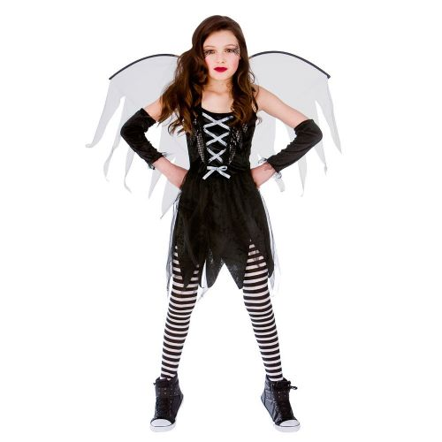 Girls Scary Fairy Halloween Costume for Fancy Dress Childrens Kids Childs